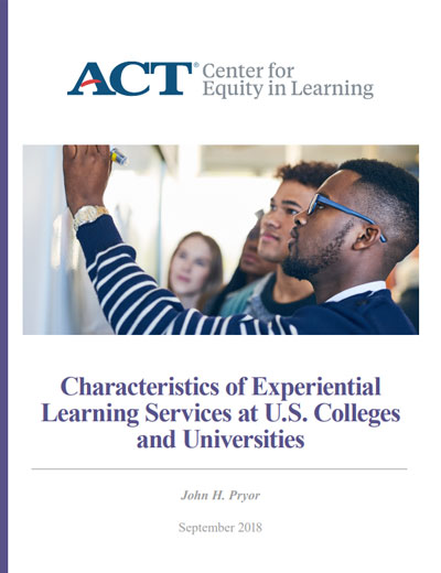 Download Characteristics of Experiential Learning Services at U.S. Colleges and Universities