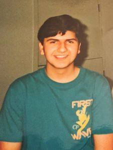 Alex Casillas as a teen