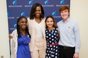 Michelle Obama with Beating the Odds stars