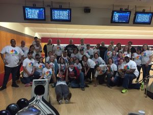A Group of Volunteers Bowling